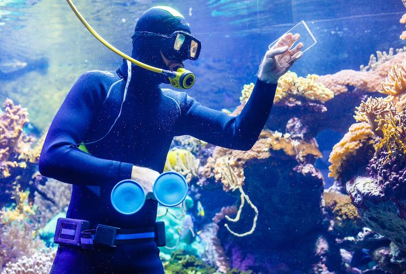 Cleaning a huge aquarium, aquarium cleaner